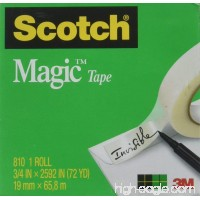 Scotch 810342592 Magic Tape Refill 3/4 x 2592 3 Core Clear - B00B4LARFM