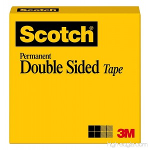 Scotch Brand Double Sided Tape Narrow Width 1/2 x 900 Inches Boxed (665) - B00006IF60