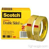Scotch Brand Double Sided Tape  Photo-Safe  Engineered for Bonding  No Mess  Long-Lasting  Standard Width  3/4 x 1296 Inches  3 Inch Core  2 Rolls (665-2P34-36) - B001BLVFSS