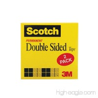 Scotch Double Sided Tape 1/2 x 900 Inches Boxed 2 Rolls (665-2PK) - B001A3Q1XQ