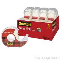 Scotch Super-Hold Tape  3/4 in x 650 in  4 Dispensers (4198) - B07CB6F1BB