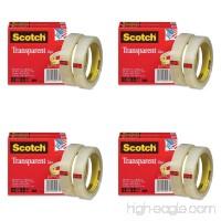 Scotch Transparent Tape 600-2P34-72  3/4-inch x 2592 Inches  2-Pack  4 Packs - B0157C0SU2