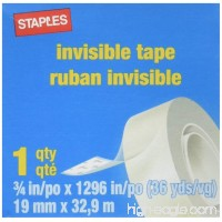 StaplesInvisible Tape 3/4 x 1296 1 Core 6 Pack - B003N4X84A