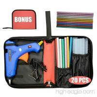 Hot Glue Gun (Not Mini) 100W Power Switch High Temp Melt Glue Gun Kit with 20 Pcs Premium Glue Sticks (1.1'' x 20) Full Portable perfect for DIY Small arts & crafts projects (BONUS Tools Carry Bag) - B076JJ1ZNY