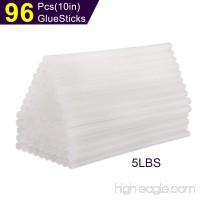 "Hot Glue Sticks 10 In  SUPERIORFE Premium All Purpose Economy Hot Melt Glue Sticks 7/16"" x 10"" Full Size  5 lbs bulk  96 PCS - B079FZK1RT"