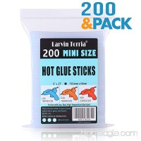 "Mini Size Hot Glue Sticks 200 Pack 6"" Length and 0.27"" Diameter High Viscosity and Transparent Use with All Temperature Mini Glue Guns Ideal for Art Craft Basic Repairs and DIYs - B07DJ2K3JR"