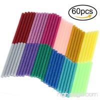 Naler Hot Glue Gun Sticks 7mm by 10cm Hot Melt Glue Sticks Mini Glitter 12 Colors 60Pcs for DIY Art Craft Woodworking - B07BK2981W