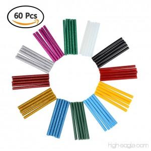 TIMESETL 60pcs Glue Sticks Bulk 0.28x4-inch 30pcs Glitter Glue Sticks + 25pcs Colored Glue Sticks + 5pcs Clear Glue Gun Sticks with Zipper Pouch for DIY Craft Projects - B073JLXXH6