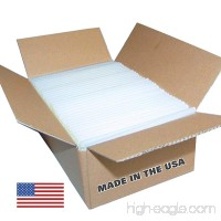 "USA Glue Sticks Full Size - 8 lb Box 7/16"" x 10"" (approx. 145 Sticks)  - Clear  High Strength  Quality Bond - Made in the USA - B00VGV4C8S"