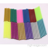 "YEJI 60Pcs (12 Color)Hot Glue Sticks 0.27"" Diameter 4"" Length  Hot Melt Glue Sticks Mini Glitter for DIY Art Craft Woodworking  Suitable for Mini Hot Glue Gun Toy &DIY Repair Accessories - B0772SR7B3"
