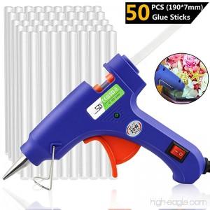 Buluri 20W Hot Glue Gun Mini Hot Melt Glue Gun with 50pcs Glue Sticks 190 x 7 mm Glue Sticks Melting Glue Gun Kit High Temperature Glue Gun For Arts & Crafts & Sealing and Quick Repairs - B0757KNWRM
