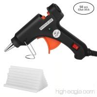 Hltd Hot Glue Gun 20 Watt High Temperature Hot Melt Glue Gun with 50pcs Glue Sticks Flexible Trigger for DIY Arts,Craft Projects &Sealing Finger Caps(Black) - B07924VGG5