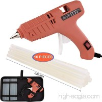 "Hot Glue Gun  Full Size (Not Mini) 60W Power High Temp Heavy Duty Melt Glue Gun Case Set with 10 Pcs Glue Sticks(0.43'' x 8.7"") for Arts & Crafts Use  Deco Ration/Gifts (60W-Orange) - B076BCS1KN"