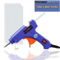 Magsbud Mini Hot Glue Gun with 50 Pieces Melt Glue Sticks  20 Watts Electronic high - tech ceramic PTC Heating Glue Gun for DIY Arts & Crafts & Sealing & Quick Repairs - B0772HHFTN