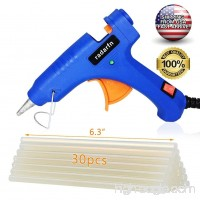 Mini Hot Glue Gun Kit with 30 PCS Glue Gun Sticks Rapid Heating Technology Holding Stand Hot Glue Gun for DIY Arts (20 Watt) - B078LXT59L