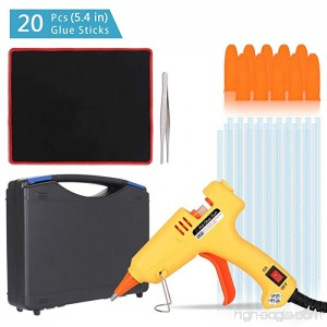 Portable High Temperature Melting Glue Gun Kit 20 Watts with 20pcs Glue Sticks for DIY Small Arts Crafts Projects and Christmas Decorations - B07DNQMNSX