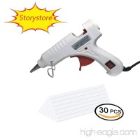 Upgraded Version Mini Hot Melt Glue Gun with 30pcs Glue Sticks with Removable Anti-hot Cover Glue Gun Kit Flexible Trigger for DIY Small Craft Projects&Sealing and Quick Repairs 20-watt (White) - B07D4DFSLJ