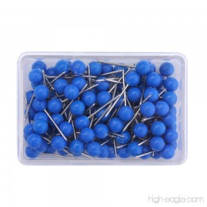 1/8 Inch Map Tacks Push Pins Plastic Round Head Steel Point 103-Count Blue - B07BFP6FCQ