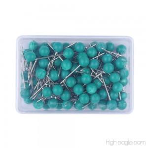 1/8 Inch Map Tacks Push Pins Plastic Round Head Steel Point 103-Count Green - B07C76WKSP