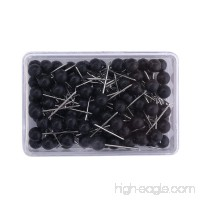 1/8 Inch Map Tacks  Push Pins  Plastic Round Head  Steel Point 104-Count Black - B07BFP4FKH