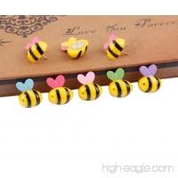 15 Pcs Bees Push Pins Decorative Thumb Tacks Colorful for Feature Wall  Whiteboard  Corkboard  Photo Wall - B074GWNJBP