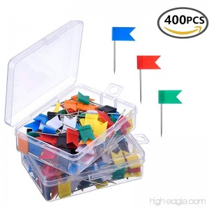 400 PCS Push Pins Map Tacks Multi-colored Powerpins For Home and Office - B07D9H561S
