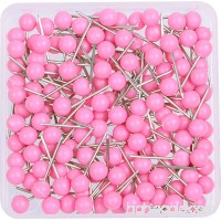 AnMiao Star 1/8 Inch Map Tacks Push Pins Plastic Round Head Steel Point 100-Count Pink Colors - B01MZ3IP7W