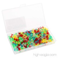 Color Thumb Tacks 200-Count Standard Push Pins Steel Point and Transparent Plastic Head - B078FH4WKX