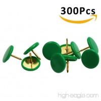 HENREK Push Pins  3/8-Inch Plastic Round Head  5/16-Inch Steel Point Thumb Tacks  300/Box - B01N9Z6OJW
