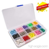 Map Tacks Marking Push Pins 1/8-Inch Plastic Beads Head 15 Assorted Colors 1500-count - B074SF3H6C