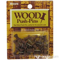 Moore Wood Head Push Pin  Warm Walnut  20 Per Card (2W-20-WW) - B0096YOSSQ