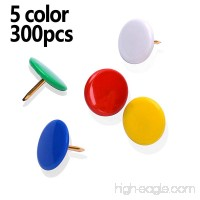 MROCO Thumb Tacks Colored Drawing Pins Color Plastic Round Head Pinks Office Thumbtack  Push Pin for Home  School  Sharp Steel Points 3/8 inch 5 Color (Red Blue White Green Yellow) Box of 300 - B06X8YMCHN