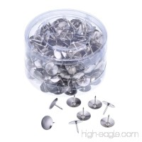 Outus Silver Steel Thumb Tacks for Office  DIY  Hanging Memos and Pictures Box of 300 - B01M5FNNST