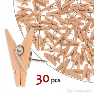 Push Pin Clips - 30 Paper Clips with Pin for Documents/Artworks/School Projects/Photos/Notes/Papers/Cork Board/Bulletin Board - No Holes for The Paper - B07FLWXQ8J