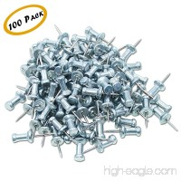 "Push Pins  Steel Aluminum Head Push Pins - Sharp steel point - Silver  3/8"" Long – Box of 100 - B07D1C414S"