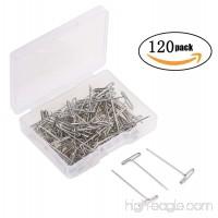 Tupalizy 120PCS 1 Inch Nickel Plated Steel T-Pins - B06XDFZKWG