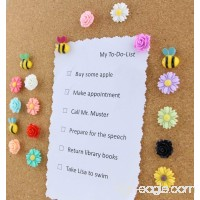 Yalis 24 Pcs Decorative Thumbtacks Colorful Floret and Bees Pushpins for Feature Wall Whiteboard Corkboard Photo Wall - B06XKSC5CS