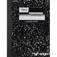 12 PACK-Of Mead Square Deal Composition Book  100-Count  College Ruled  Black Marble (09932) 12 pack - B009AY2UDW