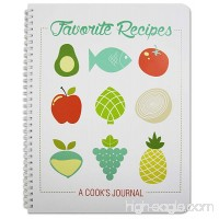 BookFactory Recipe Book / Recipe Journal / Notebook / Blank Cook Book - 150 Total Recipe Pages (8 1/2 X 11) 75 Individual Recipes Translux Cover Wire-O Binding (JOU-150-7CW-A(Recipe Journal)) - B00RU639LO