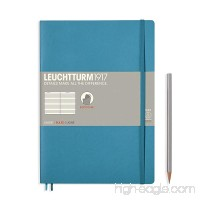 "Leuchtturm 1917 Soft Cover Composition B5 Notebook 7"" x 10"" Nordic Blue Ruled / Lined - B06XQ7DW6M"