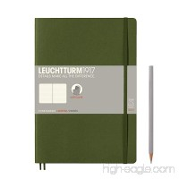 Leuchtturm1917 Composition B5 Softcover Notebook - Dotted Pages - Army Green - B01ETZ2GJE