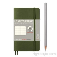 LEUCHTTURM1917 Soft Cover Small (A6) Slim Pocket Notebook Army Green Dotted - B01N6HQACD