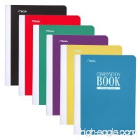 "Mead Composition Book / Notebook  Wide Ruled Paper  70 Sheets  Plastic  9-3/4"" x 7-1/2""  Green  Blue  Black  Red  Purple  Yellow  12 Pack (38975) - B06Y22THDG"