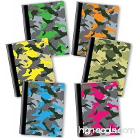 New Generation - Camouflage - Composition Book  6 Pack  Wide Ruled  80 Sheets/160 Pages  7.5 x 9.75 inches  Heavy Duty Laminated Hard Covers (6 Pack Composition Notebook Wide Ruled) - B06XGNRP1F
