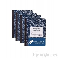 "Roaring Spring Hard Cover Composition Book  9 3/4"" x 7 1/2""  Unruled  100 sheets  4/pack - B06X93D5F4"