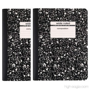 Staples Black Wide Ruled Composition Notebook 2 Pack - B011KF5Q3O