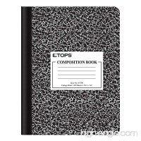"TOPS Composition Book  9-3/4"" x 7-1/2""  College Rule  Black Marble Cover  100 Sheets (63796) - B0034XS3HC"