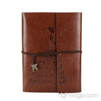 XIUJUAN A5 Leather Notebook and Journal to Write in for Women  Refillable Blank Paper Spiral Sketchbook Diary Book for Girls  Vintage Graduation Gifts Birthday Anniversary Presents  Butterfly Brown - B072SPY4JZ