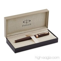 Parker Ingenuity Small Daring Brown Rubber with Pink Gold Trim (PGT) 5th Technology Mode Pen (S0959130) - B005SA4WCO