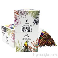 Parrot Premier 72ct Colored Pencils Soft Core Triangular-Shaped Pre-Sharpened for Artists & Adult Coloring Book - B076CPKTJ2
